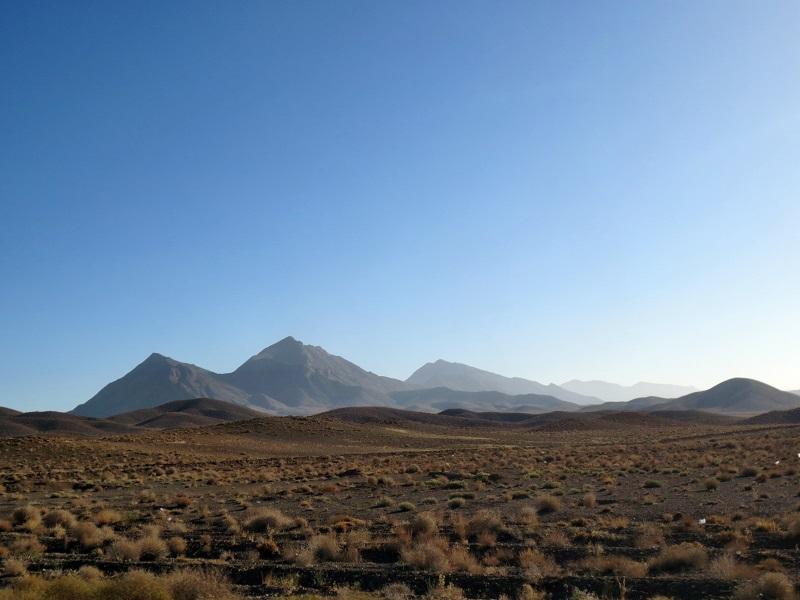 Wüste im Iran. Viele Teile des Irans bestehen aus Wüste.
