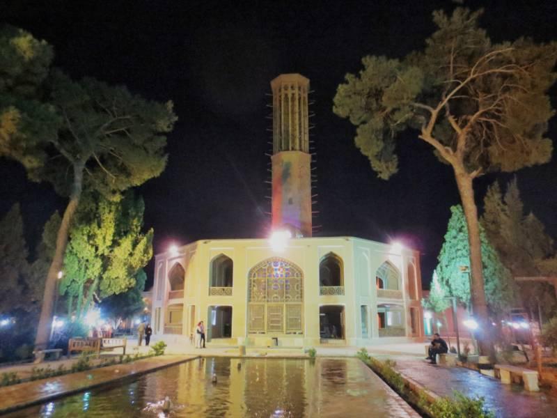 Der Dolatabad Garten in Yazd mit dem Bādgir
