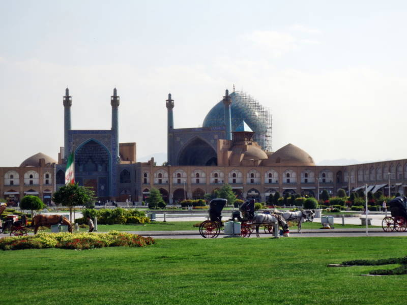 Die Iman-Moschee in Isfahan im Iran