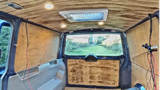 Holzverkleidung für den Camper Bus selber bauen