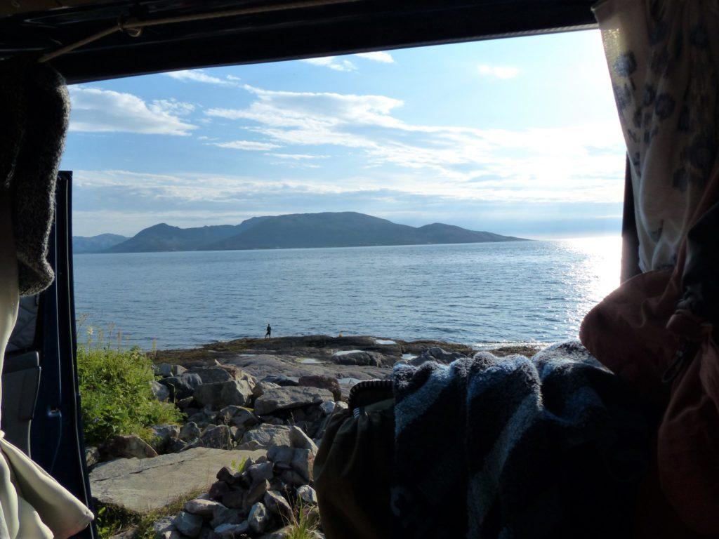 Campen beim Küstenweg Kystriksveien