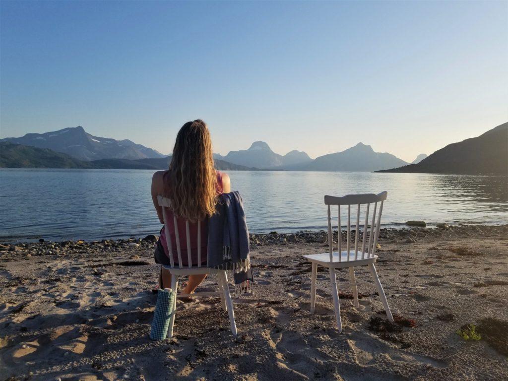 Ruhe und Einsamkeit am Fjord Sørfolda