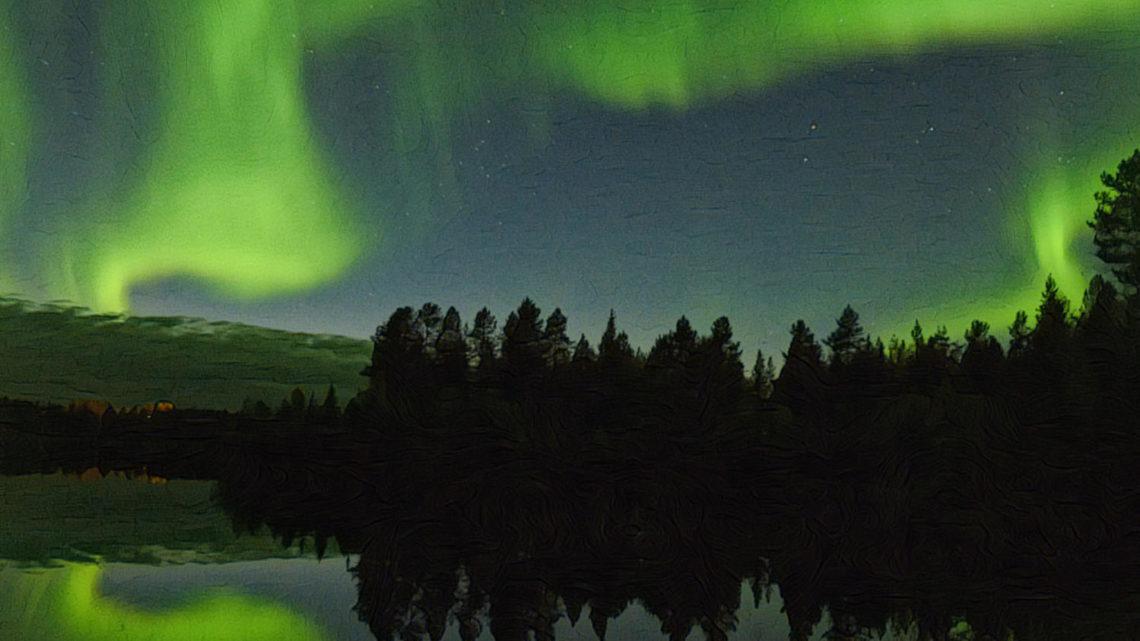 Mit dem Camper im Herbst durch Finnisch Lappland mit Polarlichter