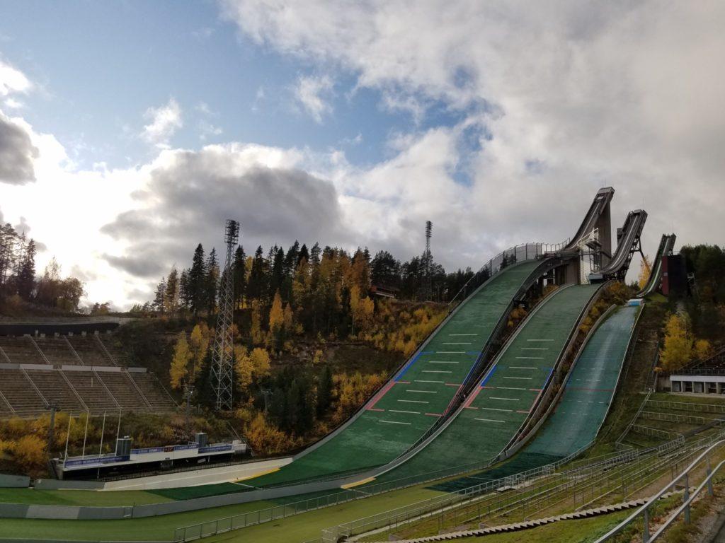 Skisprung Schanzen in Lathi.