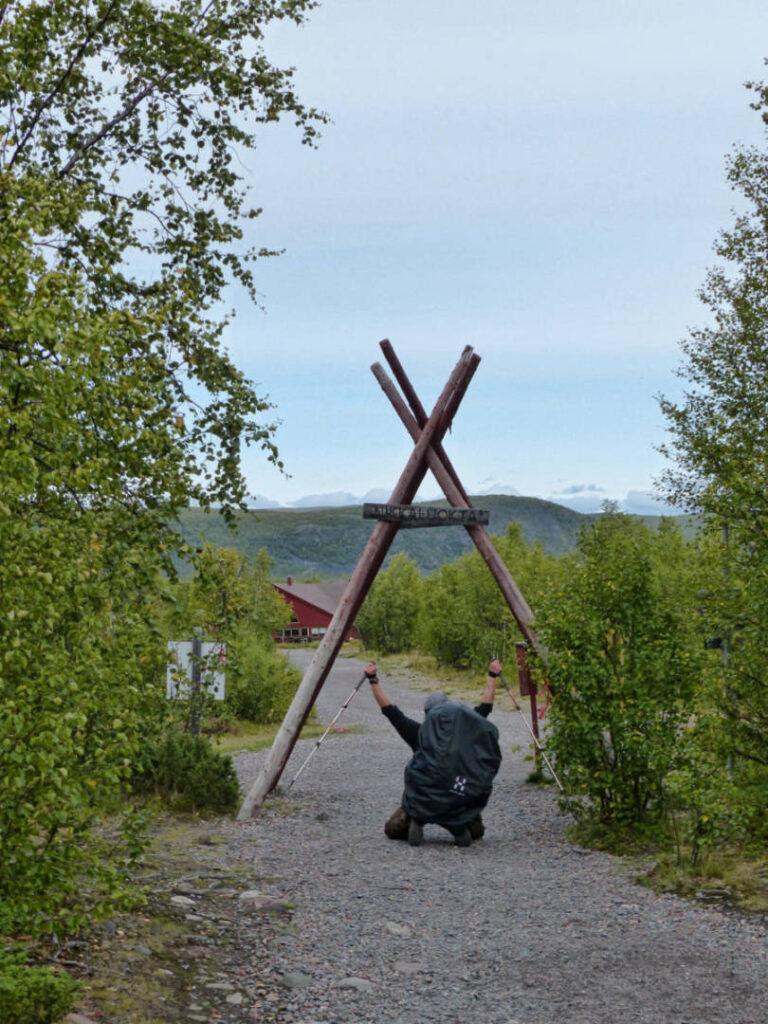 Ende vom Dag Hammarskjöldsleden in Nikkaluokta