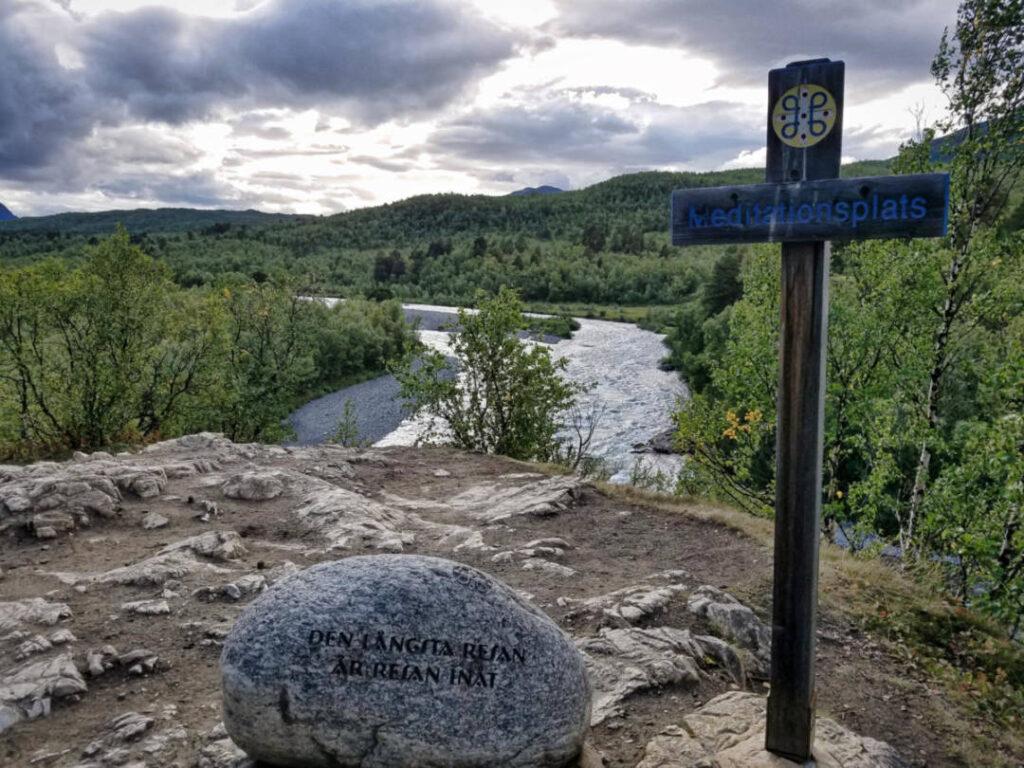 Meditationsplätze am Kungsleden in Schweden