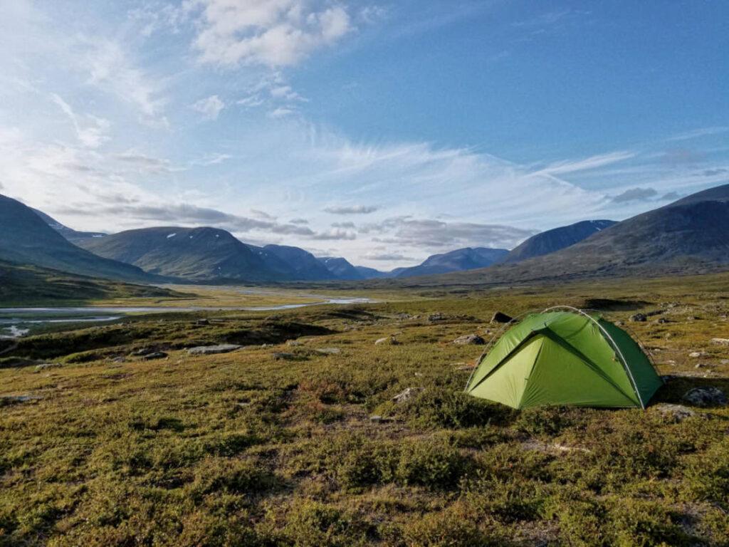 Wandern und Zelten auf dem Kungsleden in Lappland