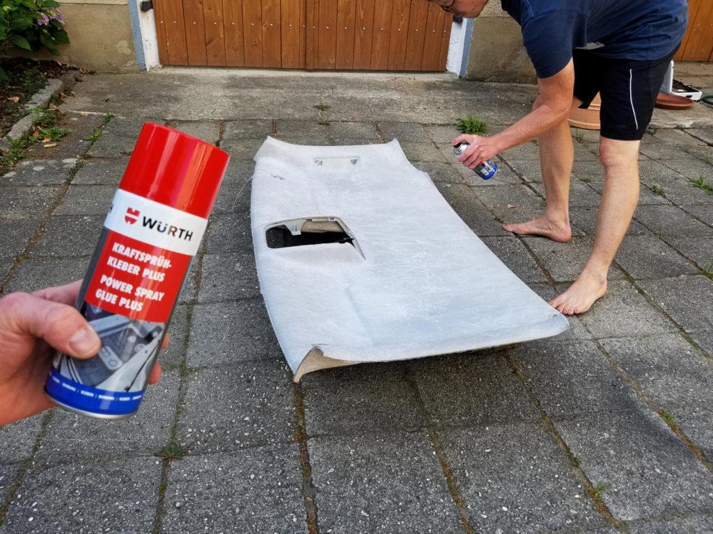 Dachhimmel mit Filz Bekleben im Fahrzeug - Camper