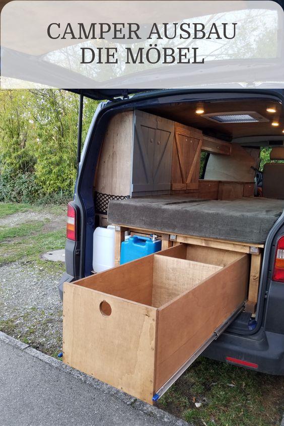 Möbel für den Camper Ausbau selber bauen