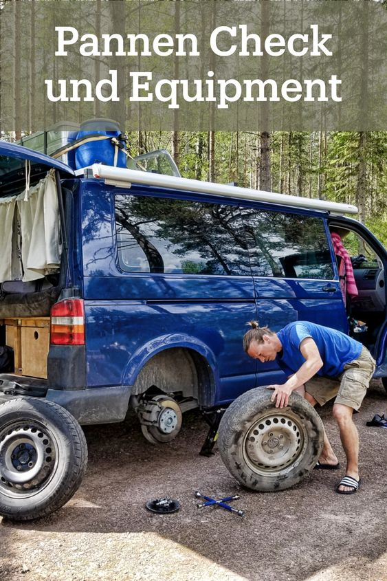 Pannen-Ausrüstung im Camper und Check vor der Reise