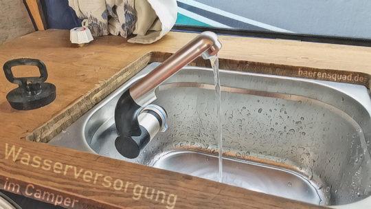 Wasserversorgung im Camper für die Van-Küche