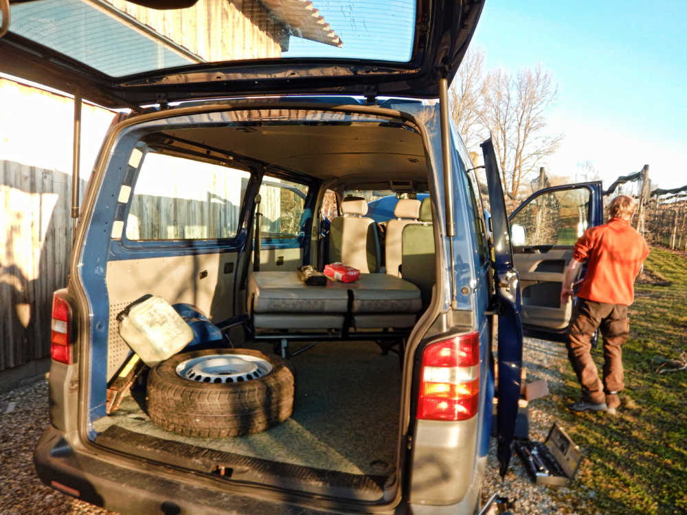 Die ersten Schritte bei einem Van-Ausbau