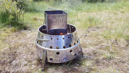 Atago Camping Grill für die Tour im Campervan
