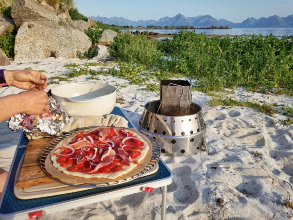 Pizza selber backen mit dem Atago und der Umuftkappe